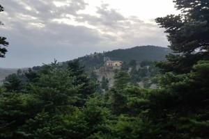 Η φωτογραφία της ημέρας: Το Μπάφι της Πάρνηθας μέσα από τα έλατα!