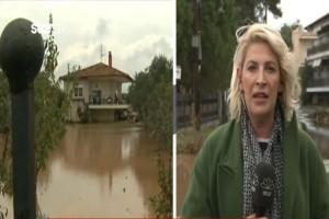 """""""Πνίγηκε"""" η Χαλκιδική! Οι εικόνες από την κακοκαιρία σοκάρουν! (Video)"""