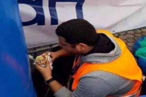 37ος Μαραθώνιος: Ο σεκιουριτάς που έκλεψε την παράσταση! Έτρωγε κρυφά πιτόγυρο