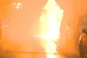 Χάος στη Θεσσαλονίκη: Φωτιές και μολότοφ μετά την πορεία! Καίγονται αυτοκίνητα!