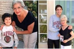 19 χρόνια μετά, βγάζει την ίδια φωτογραφία με τη γιαγιά του - Όταν όμως την κοίταξε καλύτερα, είδε κάτι εξωφρενικό!