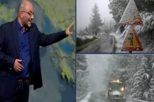 """Προσοχή από τον Σάκη Αρναούτογλου: """"Πυκνές χιονοπτώσεις! Ο καιρός τις επόμενες ώρες θα...""""!"""