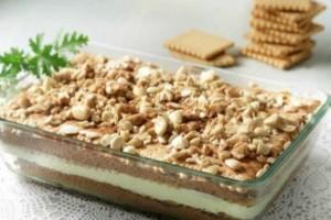 Γλυκό ψυγείου από πτι μπερ με κρέμα και σοκολάτα!