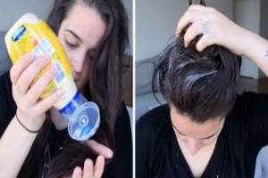 Αλείφει τα μαλλιά της με μαγιονέζα και περιμένει 20 λεπτά...Το αποτέλεσμα θα σας ενθουσιάσει!