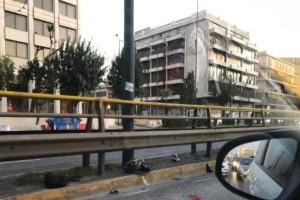 Τραγωδία στη Σύγγρου: Πέθανε ο οδηγός της μηχανής! (Video)