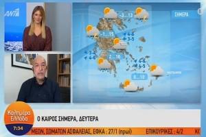 Βροχές και ομίχλη στην Ελλάδα! Ο Τάσος Αρνιακός προειδοποιεί! (video)