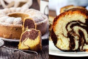 Κέικ μαρμπρέ με ζαχαρούχο γάλα. Έτοιμο σε 30 λεπτά!