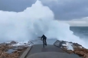 Έκανε αμέριμνος ποδήλατο όμως όταν γύρισε πίσω του, είδε κάτι που τον ''πάγωσε''!