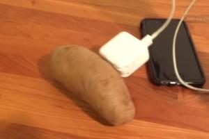 Παίρνει μια πατάτα και βάζει τον φορτιστή του κινητού της...Θα μείνετε άφωνοι με αυτό που θα συμβεί!