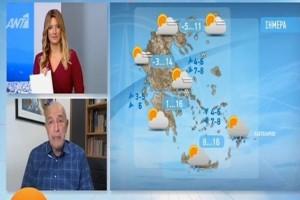 Τάσος Αρνιακός: Χιονόνερο και χιόνια σε αυτές τις περιοχές! Που θα επικρατήσει η ηλιοφάνεια;