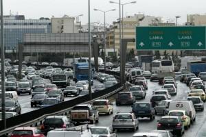 Μποτιλιάρισμα στους δρόμους της Αθήνας! Σύγκρουση οχημάτων στην Εθνική Οδό!