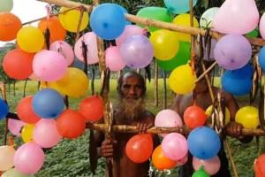 Αυτός ο παππούς έχει γύρω του δεκάδες μπαλόνια... Μόλις μάθετε το λόγο θα μείνετε με το στόμα ανοιχτό!