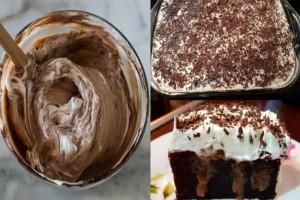 Κέικ σοκολάτας σιροπιαστό με ζαχαρούχο γάλα: Εύκολο και λαχταριστό κέικ που θα κολάσει τους πάντες!