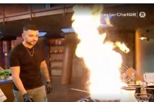 MasterChef 4: Ο πυροσβέστης Ιωαννίδης! Παραλίγο να πιάσει φωτιά το πλατό!