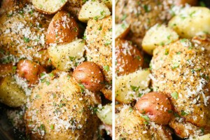 Βάζει στη γάστρα κοτόπουλο μαζί με πατάτες και σκόρδα και τα βάζει στο φούρνο για 7 ώρες - Το αποτέλεσμα; Θεϊκό!