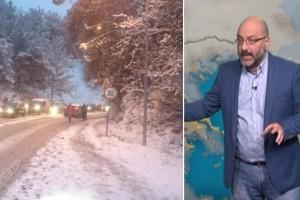 """Ο Σάκης Αρναούτογλου προειδοποιεί: """"Έρχονται βροχές και χιόνια!"""""""