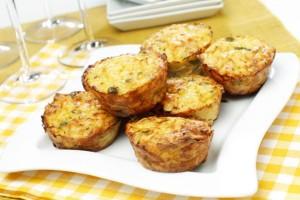 Τυροπιτάκια muffins με 2+1 τυριά