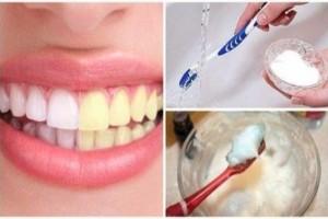 Τρίβει τα δόντια της με μαγειρική σόδα και νερό και περιμένει 5 λεπτά...Τέλος στους οδοντιάτρους!