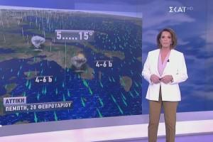 Βροχές, χιονοπτώσεις και καταιγίδες! Η πρόβλεψη της Χριστίνας Σούζη για τον καιρό της Τσικνοπέμπτης! (Video)