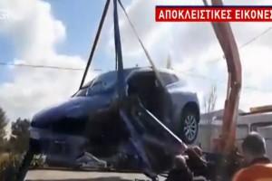 Σκληρές εικόνες από τροχαίο στο Μαρκόπουλο! Από θαύμα γλίτωσε ο οδηγός του! (video)