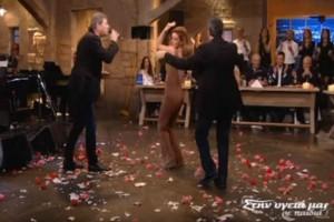 """Γνωστή Ελληνίδα χόρεψε κολασμένο τσιφτετέλι και """"τρέλανε"""" τον Σπύρο Παπαδόπουλο"""
