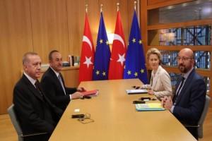 Βρυξέλλες: Έφυγε χωρίς να παραστεί στη συνέντευξη Τύπου ο Ερντογάν