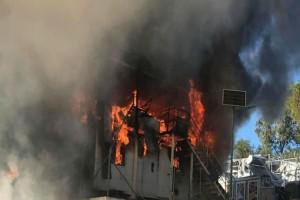 Λέσβος: Πυρκαγιά σε ΜΚΟ έξω από καταυλισμό!