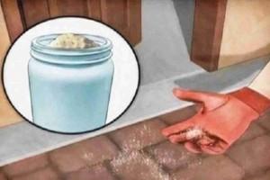 Παίρνει μια χούφτα αλάτι και το ρίχνει έξω από την πόρτα του σπιτιού της. Ο λόγος; δεν φαντάζεστε