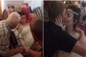 Λίγο πριν πεθάνει από καρκίνο αυτή  η κοπέλα, ο σύντροφός της έκανε κάτι συγκινητικό - Θα δακρύσετε