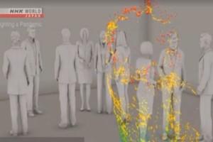 Πείραμα-σοκ για τον κορωνοϊό - Δείτε πως τα μικροσταγονίδια μεταφέρουν τον ιό (Video)