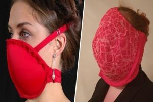 Κορωνοϊός - Φόρεσαν σουτιέν στο πρόσωπο σαν...μάσκα
