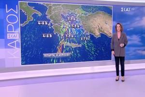 «Βροχές, ισχυροί άνεμοι και συννεφιές στην χώρα, αλλά η θερμοκρασία…» - Η Χριστίνα Σούζη προειδοποιεί (video)
