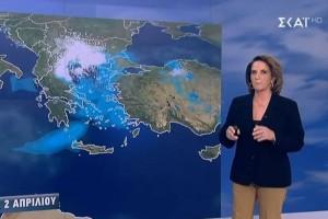 «Αρκετά έντονα φαινόμενα - Χιονοπτώσεις σε χαμηλό υψόμετρο» - Προειδοποίηση της Χριστίνας Σούζη (Video)