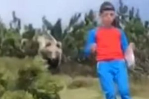 12χρονος προσπαθεί να ξεφύγει από αρκούδα με την συνέχεια να σοκάρει... (Video)