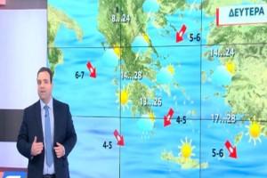 """""""Άστατος ο καιρός όλη την εβδομάδα"""": Ο Κλέαρχος Μαρουσάκης προειδοποιεί"""