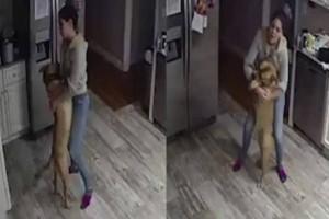 33χρονος άντρας κοιτά την κάμερα του σπιτιού του και βλέπει την κοπέλα του να κάνει με τον σκύλο του το απίστευτο