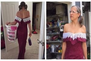 Έβαλε το φόρεμα που φόρεσε στο γάμο της φίλης της 20 χρόνια πριν - Δεν φαντάζεστε τον λόγο