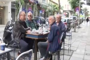 Άρση μέτρων - εστίαση: Οι πρώτοι πελάτες στα τραπεζάκια… έξω (video)