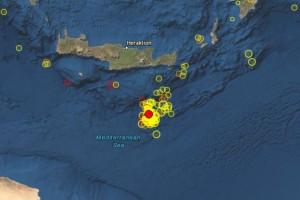 Σεισμός 4,3 Ρίχτερ νότια της Κρήτης