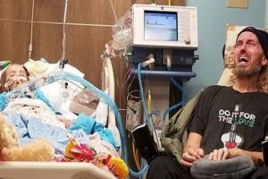 Η φωτογραφία με την 5χρονη και τον ετοιμοθάνατο πατέρα της ραγίζει καρδιές - Η μικρή είναι στο τελικό στάδιο καρκίνου...