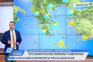 """Κλέαρχος Μαρουσάκης: """"Χωρισμένη στα δύο η Ελλάδα - Αλλού καταιγίδες, αλλού καλοκαίρι"""""""