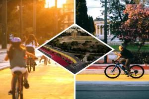 """Όνειρο η νέα Αθήνα: Μαγευτικές εικόνες από τον """"Μεγάλο Περίπατο"""" με ποδήλατα και πεζούς"""