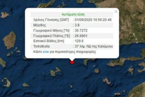 Σεισμός στην Κάλυμνο