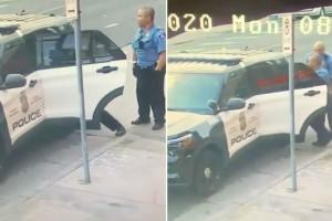 Νέο βίντεο ντοκουμέντο από τη δολοφονία του 46χρονου Αφροαμερικάνου - Τον χτυπούσαν και μέσα στο περιπολικό
