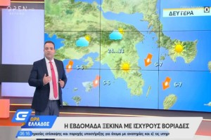 """""""Η εβδομάδα ξεκινά με ισχυρούς βοριάδες"""": Ο Κλέαρχος Μαρουσάκης προειδοποιεί"""