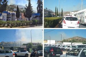 Τεράστιες διαστάσεις παίρνει η φωτιά - Κλειστή η Βάρης - Κορωπίου και στα δύο ρεύματα! Εκκενώνονται τα χωριά SOS