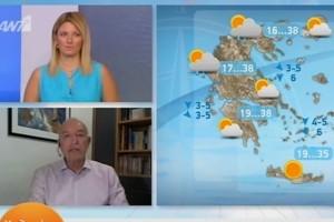 «Υποχώρηση της θερμοκρασίας με τοπικές βροχές» - Η πρόβλεψη του Τάσου Αρνιακού για την εξέλιξη του καιρού (Video)