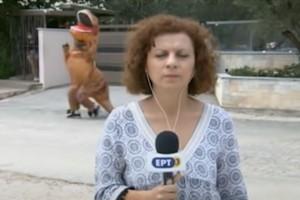 Το απόλυτο έπος: Δεινόσαυρος εμφανίστηκε πίσω από... ρεπόρτερ της ΕΡΤ! (video)