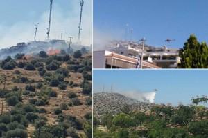 Φωτιά στη Βάρη: Υπό έλεγχο η πυρκαγιά - Εκκενώθηκαν τα Παιδικά Χωριά SOS και ένα γηροκομείο (Video)