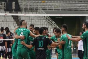 Volley League: Ο ΠΑΟ νίκησε 3-0 τον ΠΑΟΚ και περνάει τελικό